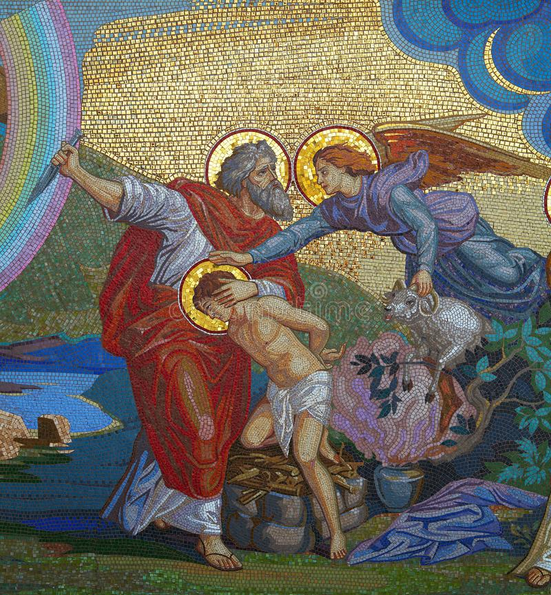 Religione mosaico Chiesa ortodossa in Kirowograd Ucraina fotografia stock libera da diritti