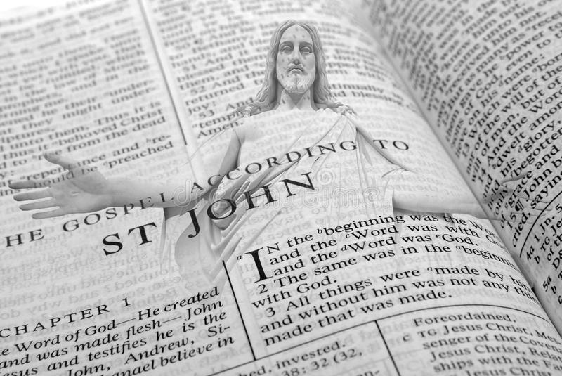 Religione santa dello spiritual di parola della bibbia fotografia stock libera da diritti