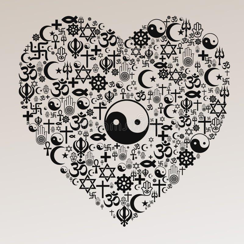 Religions Heart Shape Taoism Stock Illustration Illustration Of