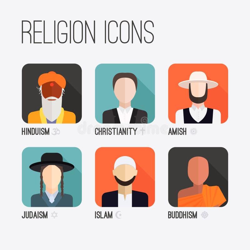 Religions-Leute-Ikonen vektor abbildung