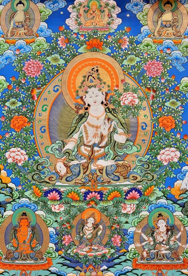 Religionsmalerei von Kultur Chinas Tibet lizenzfreie stockfotografie