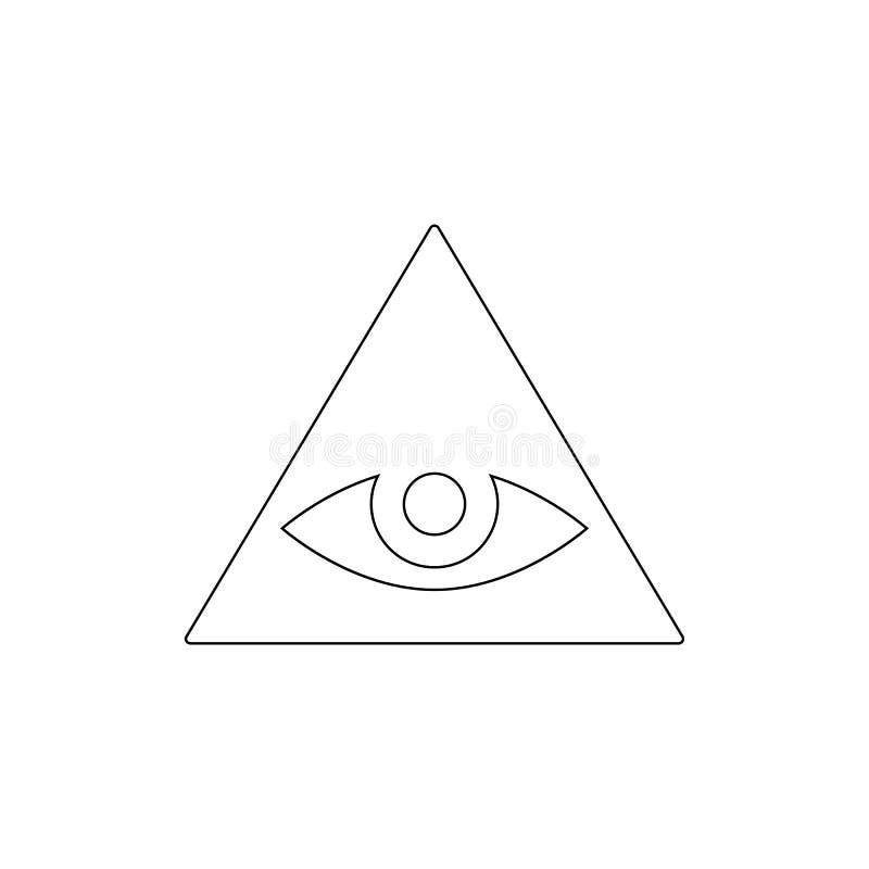 Religionssymbol, Caodaism-Entwurfsikone Element der Religionssymbolillustration Zeichen und Symbolikone k?nnen f?r Netz, Logo ben stock abbildung
