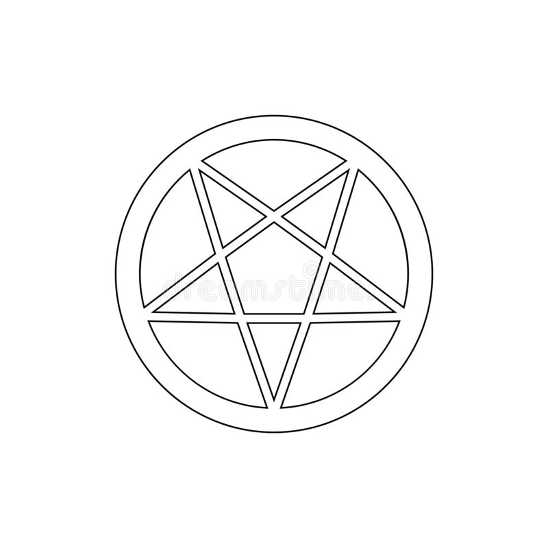 Religionssymbol, Okkultismusentwurfsikone Element der Religionssymbolillustration Zeichen und Symbolikone k?nnen f?r Netz, Logo b stock abbildung