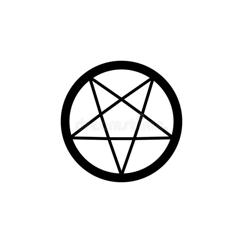Religionssymbol, Okkultismusikone Element der Religionssymbolillustration Zeichen und Symbolikone können für Netz, Logo, Mobile b stock abbildung