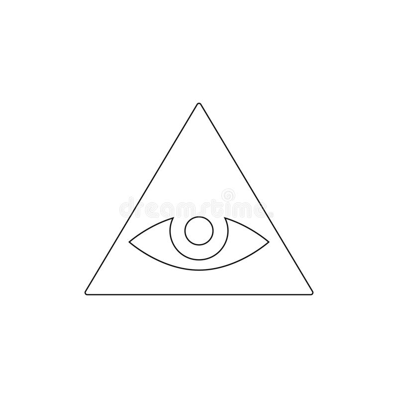 Religionsymbol, Caodaism översiktssymbol Best?ndsdel av religionsymbolillustrationen Tecknet och symbolsymbolen kan anv?ndas f?r  stock illustrationer