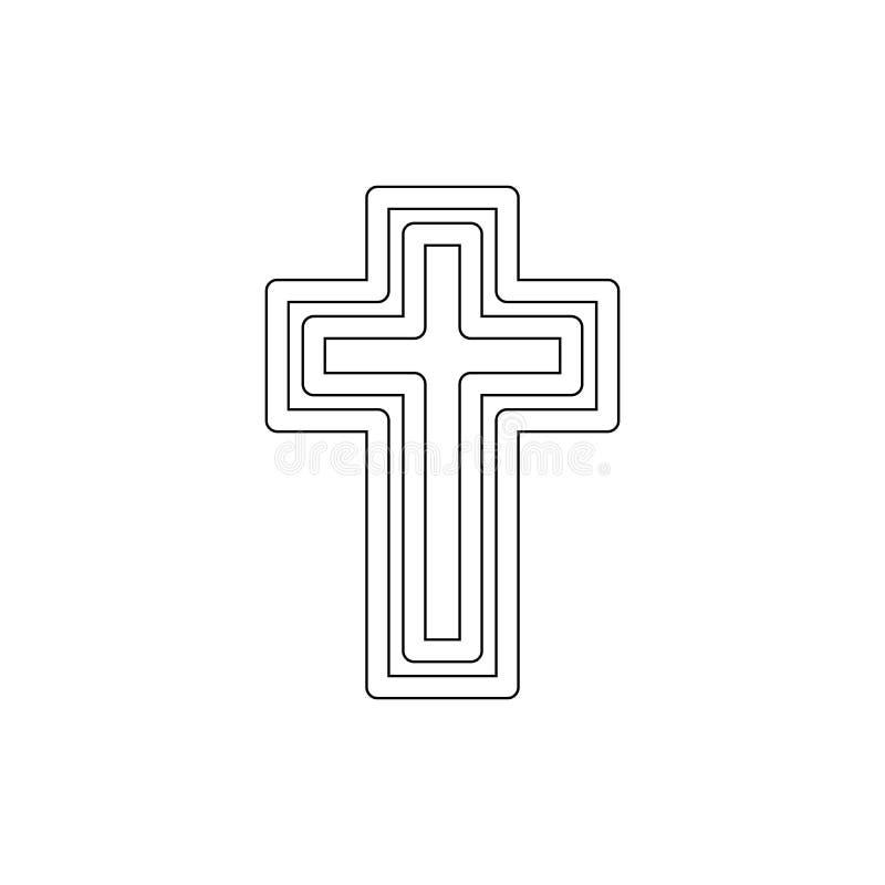 Religionsymbol, katolicism?versiktssymbol Best?ndsdel av religionsymbolillustrationen Tecknet och symbolsymbolen kan anv?ndas f?r stock illustrationer
