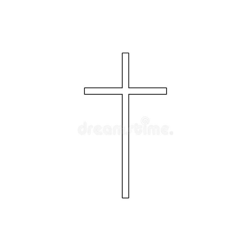 Religionsymbol, katolicism?versiktssymbol Best?ndsdel av religionsymbolillustrationen Tecknet och symbolsymbolen kan anv?ndas f?r royaltyfri illustrationer