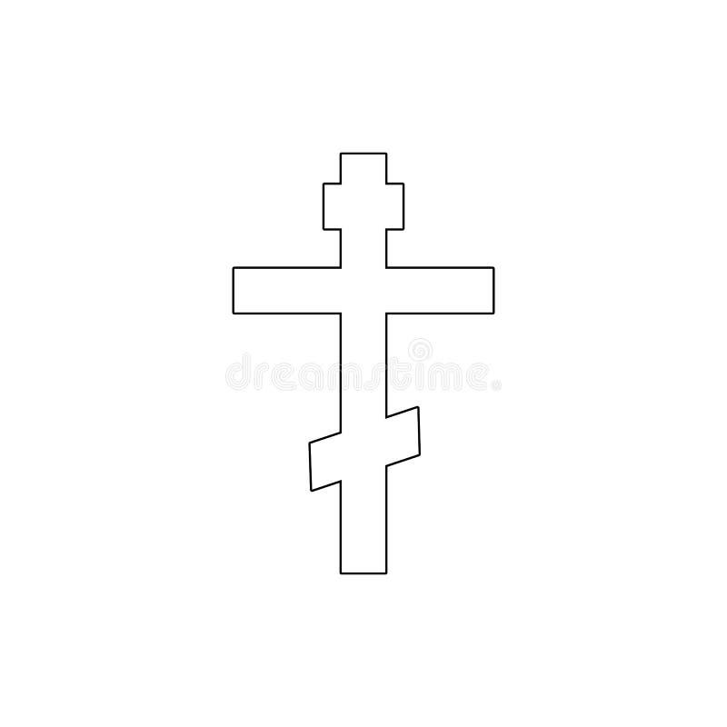 Religionsymbol, kristendomen?versiktssymbol Best?ndsdel av religionsymbolillustrationen Tecknet och symbolsymbolen kan anv?ndas f vektor illustrationer