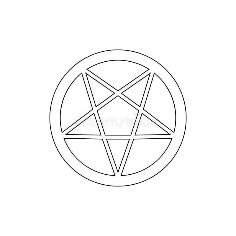 Religionsymbol, ockultismöversiktssymbol Best?ndsdel av religionsymbolillustrationen Tecknet och symbolsymbolen kan anv?ndas f?r  stock illustrationer