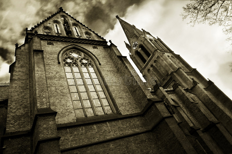Religious architecture. In the centre of Prague stock photography