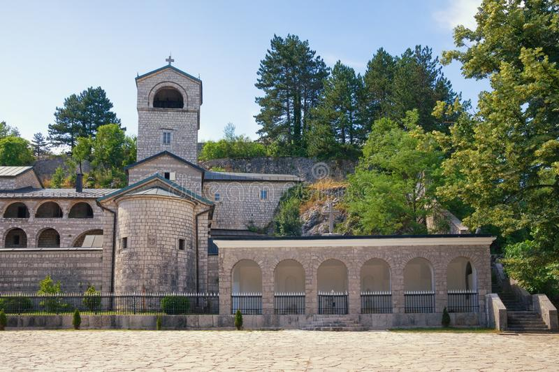 Religious architecture. Montenegro. View of ancient Cetinje Monastery royalty free stock photo