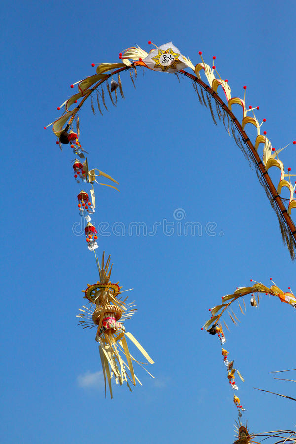 Download Religious Balinese Bamboo Decoration Stock Photo - Image of tourism, galungan: 26606168