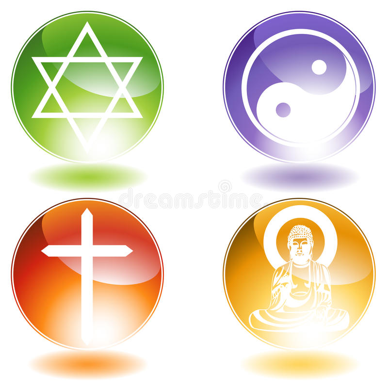 Religious Buttons vector illustration
