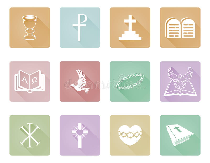 Religious Christian Icons Stock Vector Illustration Of Dove 63249972