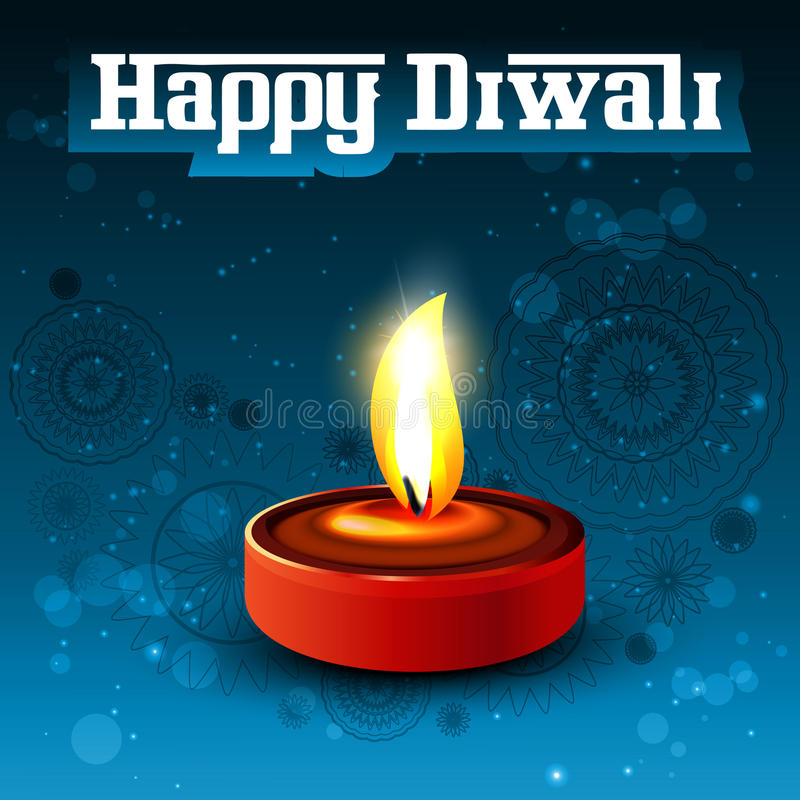 Religious diwali card beautiful stock illustration