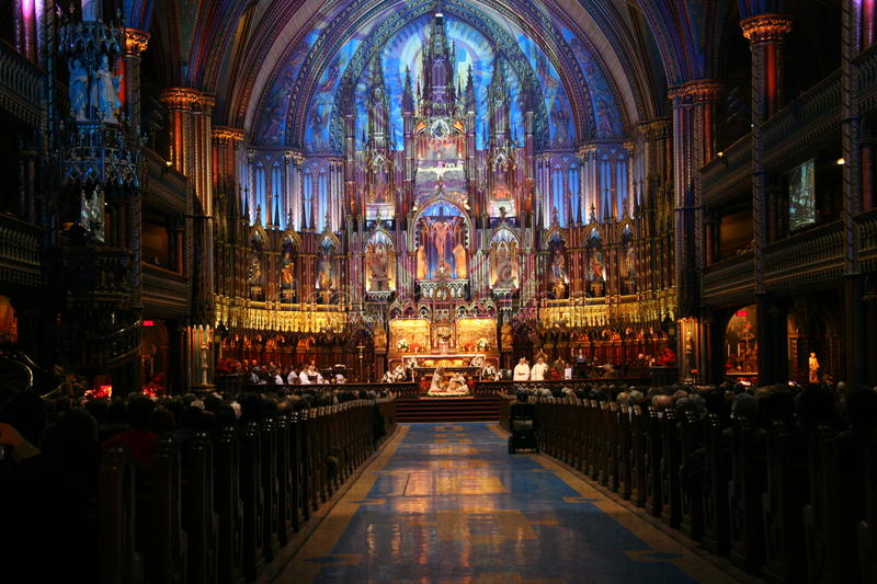 Download Religious Event In Notre Dame Basilica Montreal Editorial Stock Photo - Image: 27246563