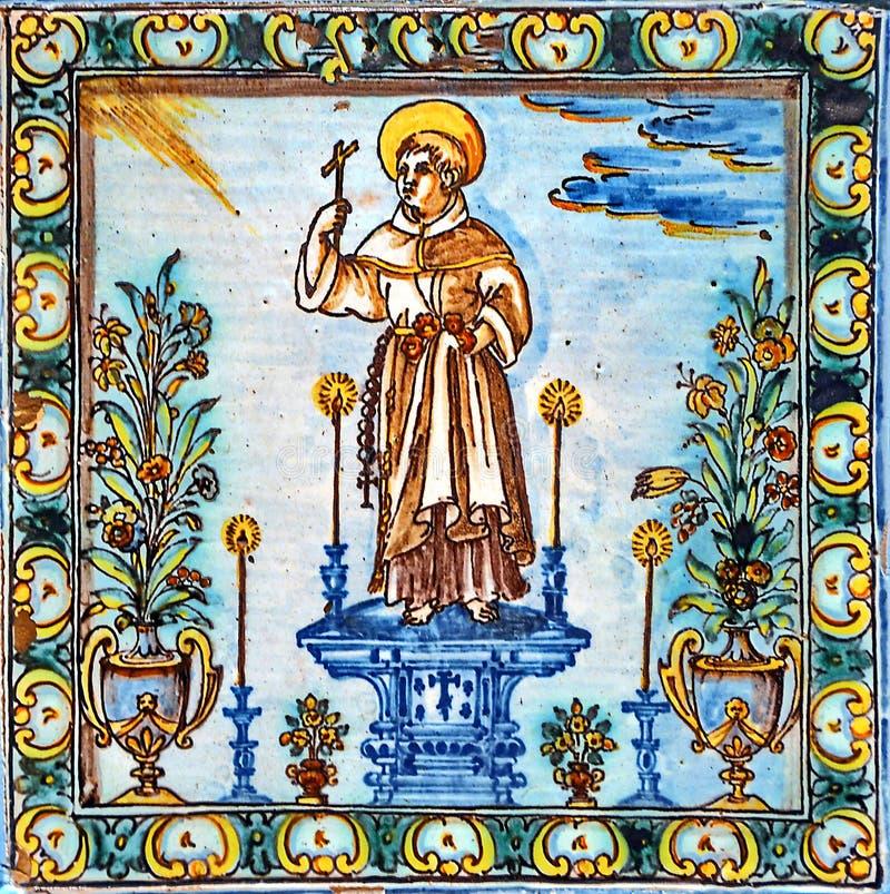 Religious Icon. In colored ceramic stock image