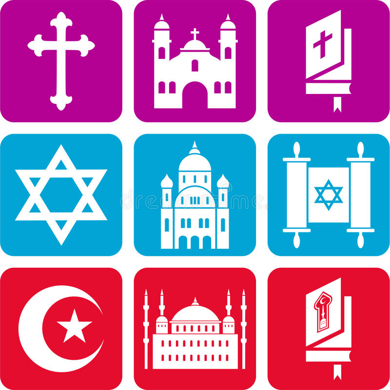Download Religious icons stock vector. Image of texts, buildings - 28568844