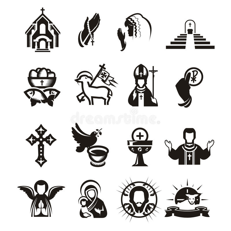 Religious icons vector illustration