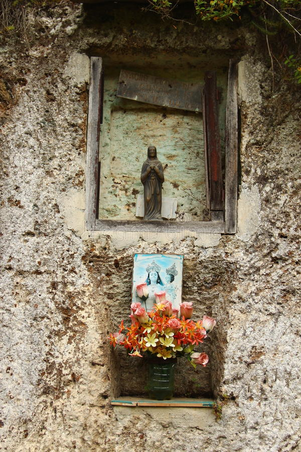 Religious idol. The picture shows a religious idol alongside Via Clodia, near Blera,a small village in Northern Lazio, Italy stock photography
