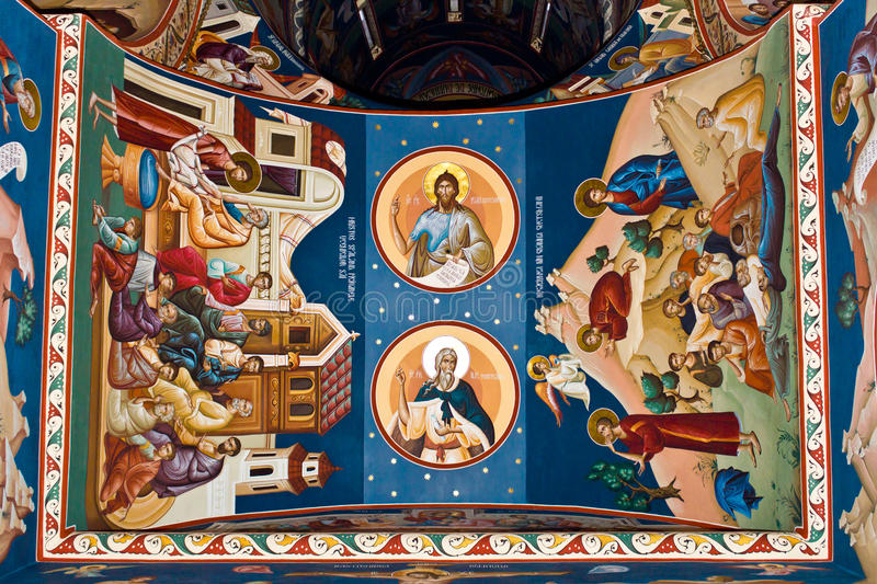 Download Religious painting IX stock image. Image of colors, fountain - 21818783