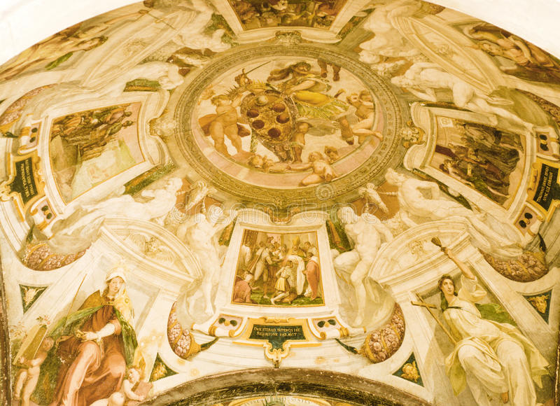 Download Religious paintings stock photo. Image of dome, gold - 14503816