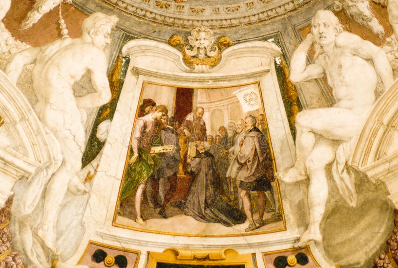Religious paintings stock image
