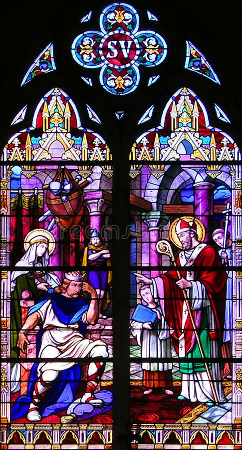 Download Religious Stained-glass Window Stock Image - Image: 523429