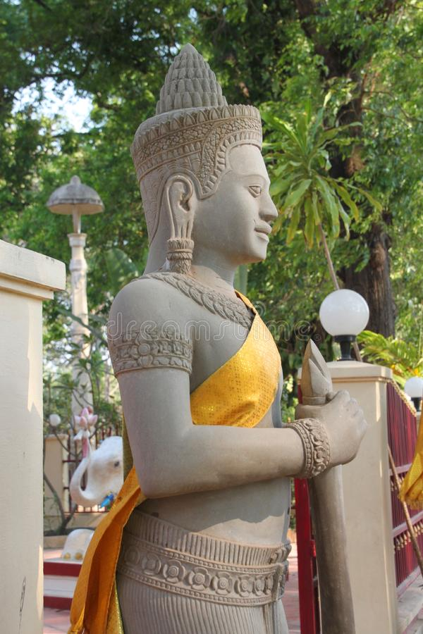 Download Religious Statue In Buddhist City Pillar Stock Image - Image of kampuchea, asian: 23779193