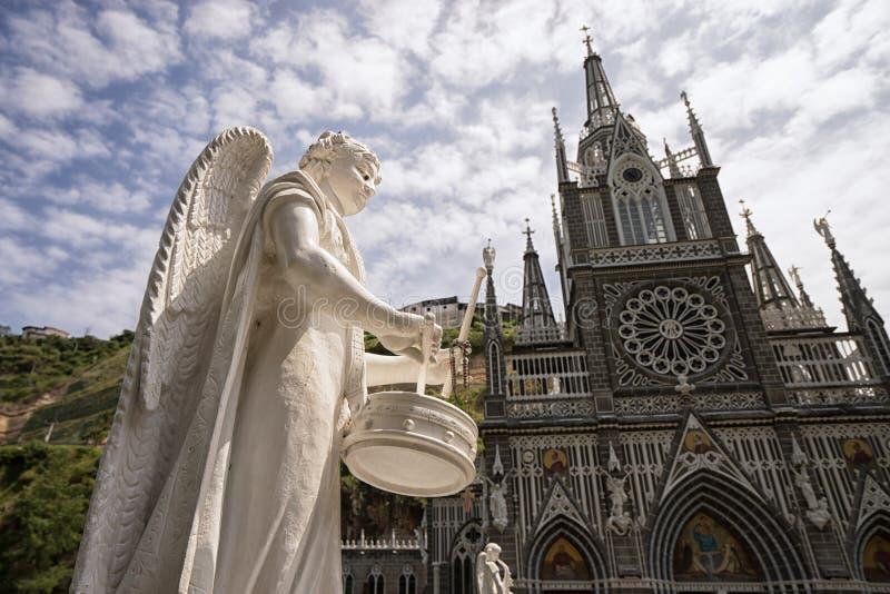 Religious statue in Las Lajas Colombia stock photos