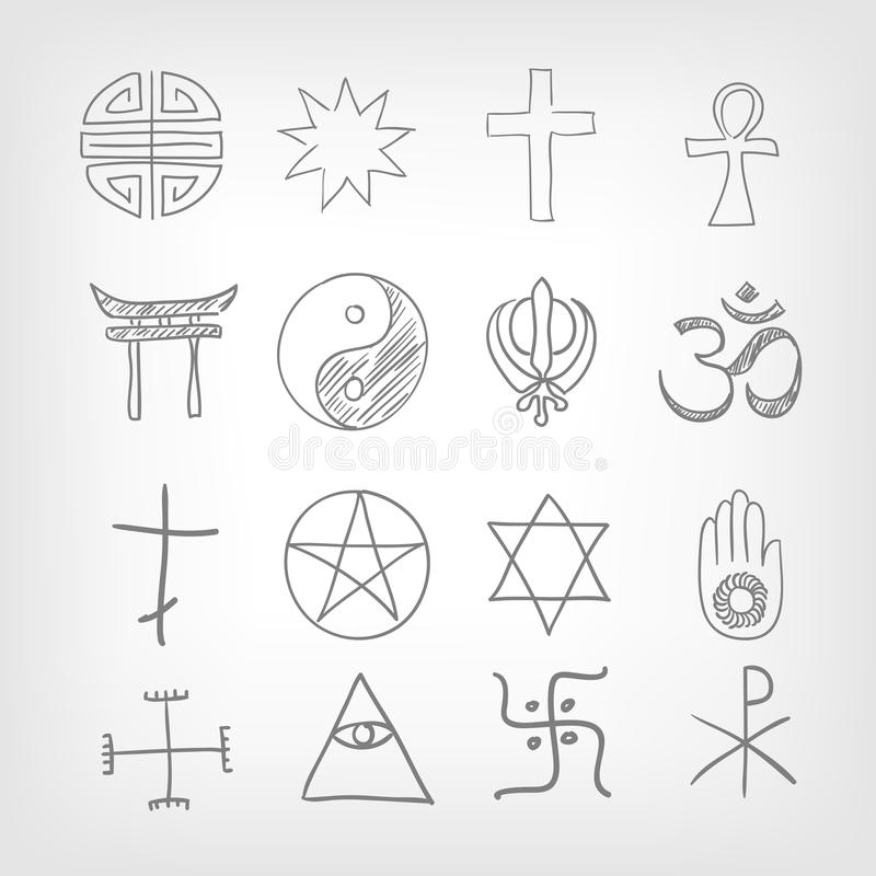 Download Religious symbolism stock vector. Image of praying, ankh - 28776912