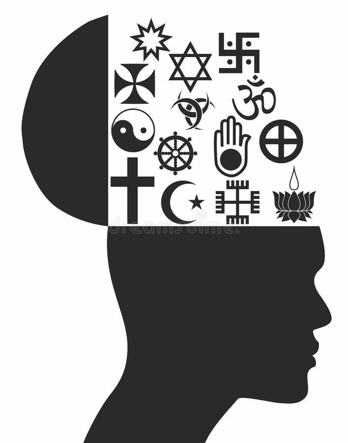 Religious symbols - Illustration. Religious symbols - Stock Illustration on white stock illustration