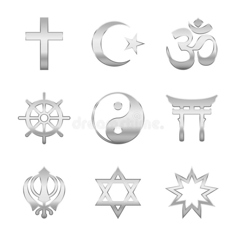 Religious Symbols Silver Stock Vector Illustration Of Star 109758129