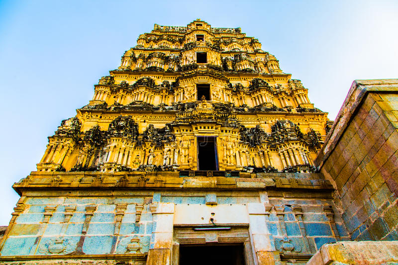 Religious temple in Hampi, India royalty free stock image