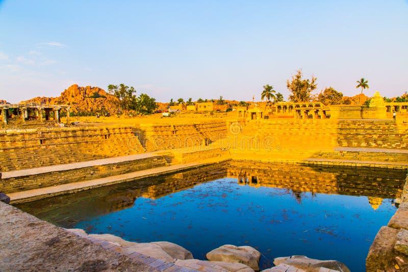 Religious temple in Hampi, India royalty free stock photos