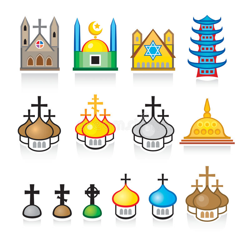 Download Religious Temples And Worship Places Stock Vector - Image: 16034311