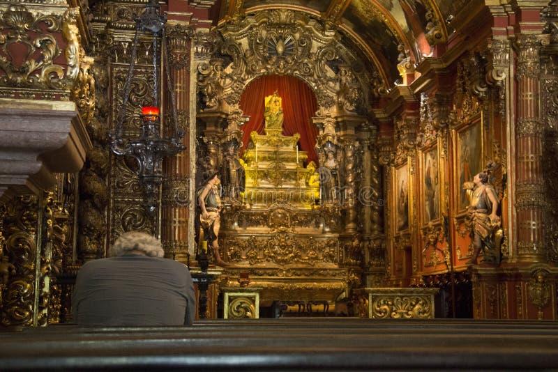 Religious Tourism in Rio de Janeiro Downtown royalty free stock photos
