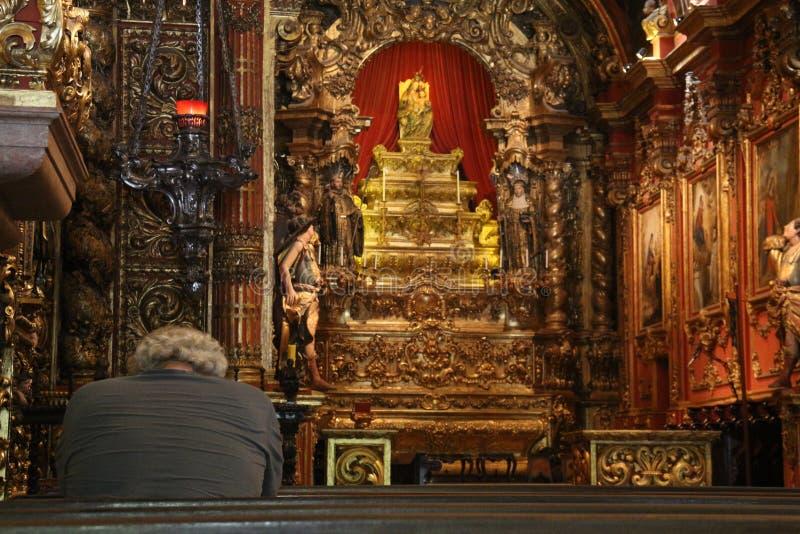 Religious Tourism in Rio de Janeiro Downtown royalty free stock image