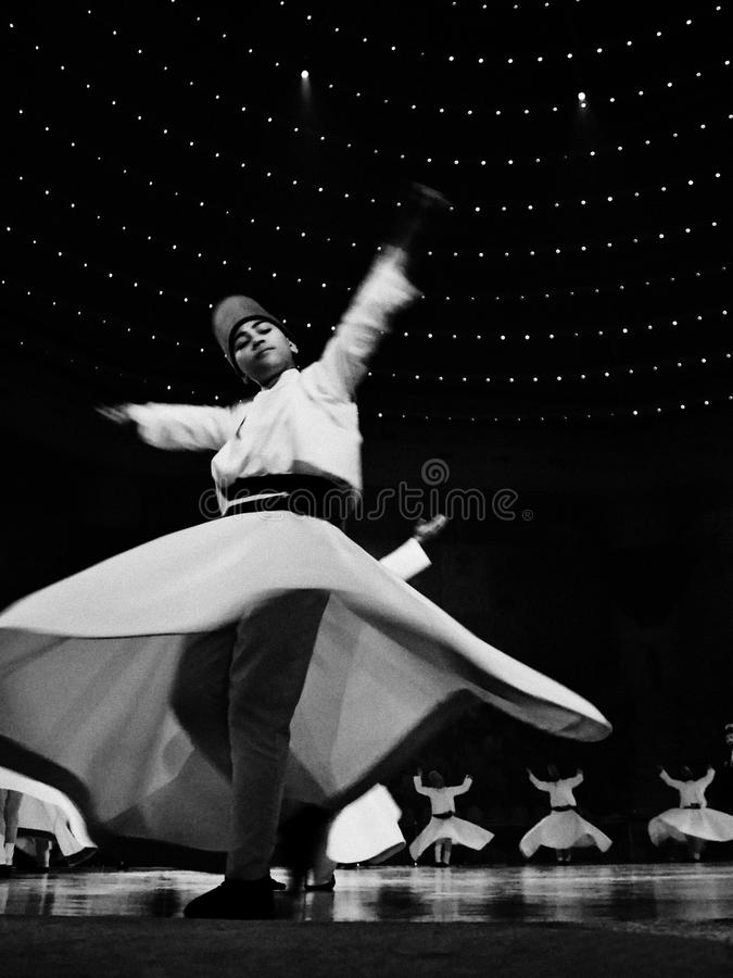 RELIGIOUS WHIRLIGIG DANCING stock photo