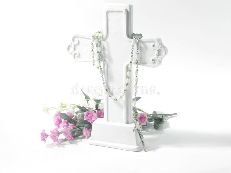 Religious-White Cross royalty free stock photography