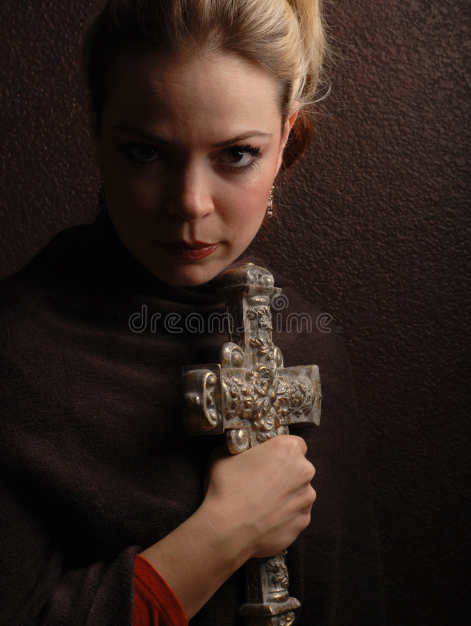 Religious woman royalty free stock images
