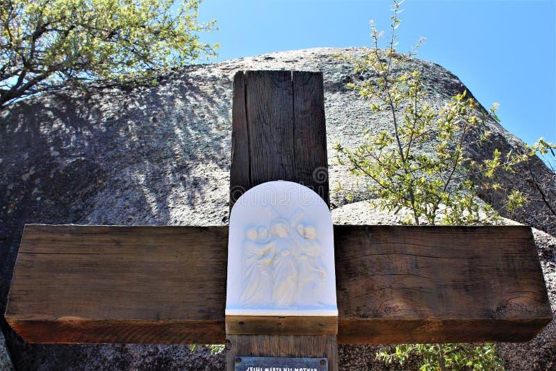 Relikskrin av Saint Joseph av bergen, Yarnell, Arizona, Förenta staterna royaltyfri foto
