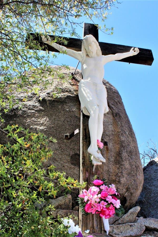 Relikskrin av Saint Joseph av bergen, Yarnell, Arizona, Förenta staterna royaltyfri bild