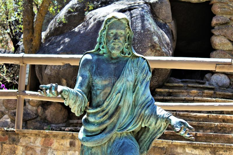 Relikskrin av Saint Joseph av bergen, Yarnell, Arizona, Förenta staterna royaltyfria bilder
