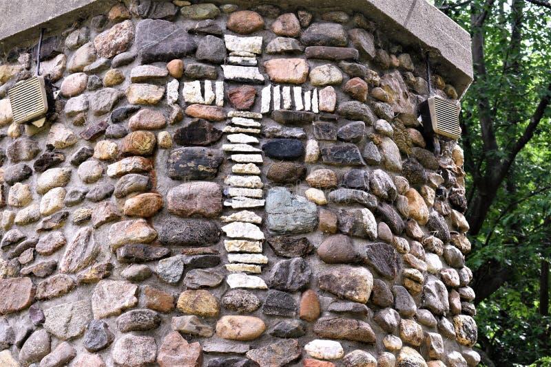 Relikskrin för St Anne ` s, öLa Motte, en ö i sjön Champlain, storslagna Island County, Vermont, Förenta staterna, USA fotografering för bildbyråer