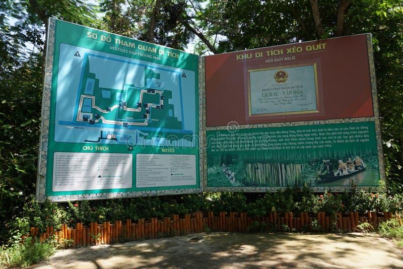 Relique Xeo Quyt ou Xeo Quit dans la province de Dong Thap images stock