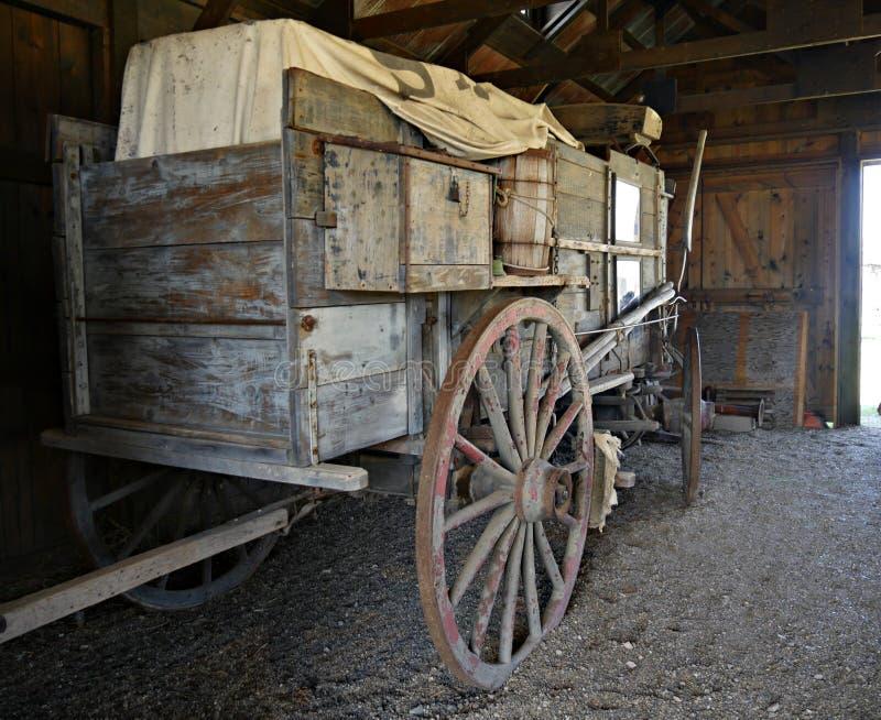 Reliques d'un vieux chariot de chariot photo libre de droits