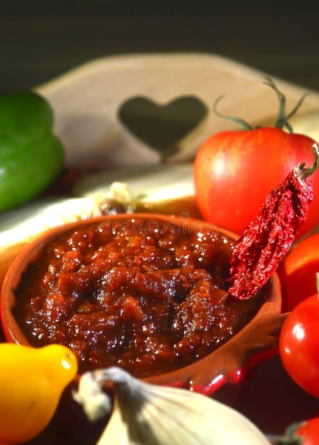 Relish tomato. royalty free stock images