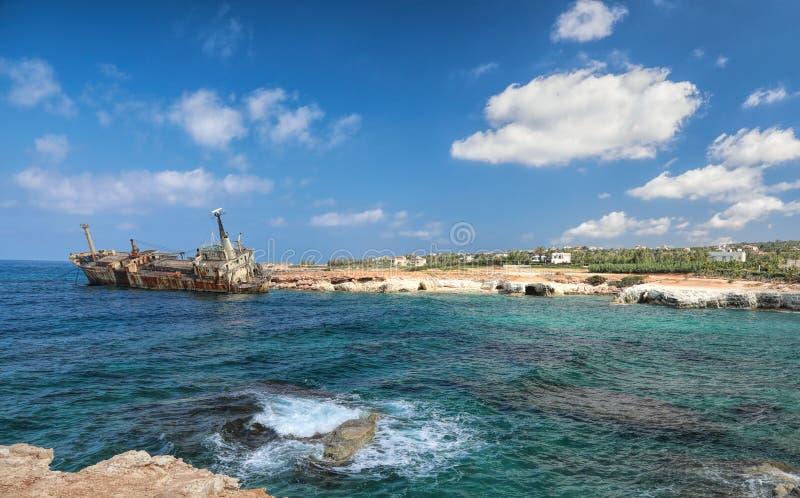 Relitto Cipro della nave fotografie stock libere da diritti