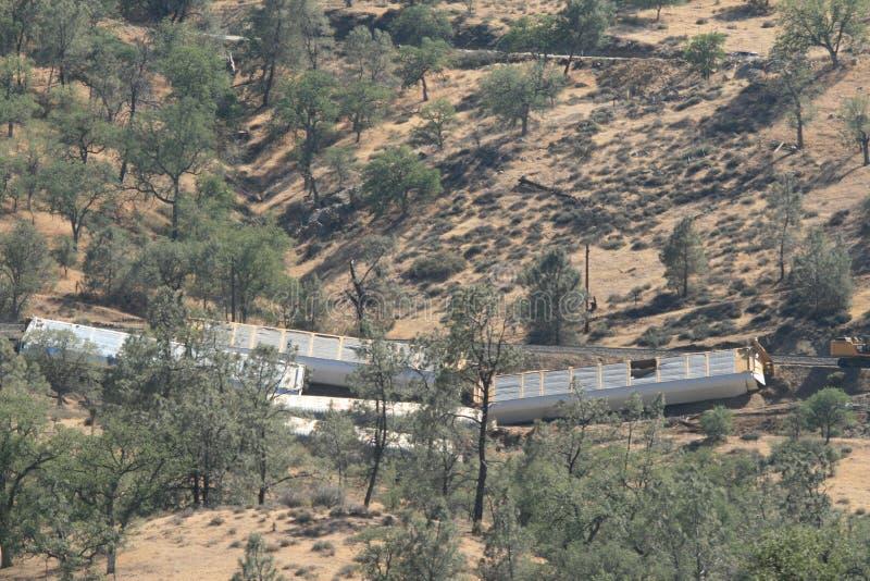Relitto del treno fotografia stock
